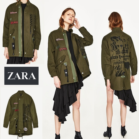 e807da60 Zara Jackets & Coats | Womens Rock Roll Punk Parka Jacket Nwt | Poshmark